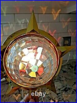 Vintage Bradford Celestial Rotating Light Tree Topper Atomic Christmas