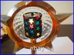Vintage Bradford Celestial Star Light Christmas Tree Topper