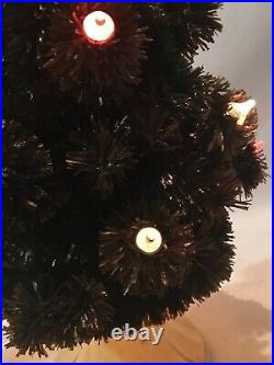 Vintage GLOLITE CORP Table Top Visca Christmas Tree with Light Bulb Base & Box