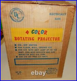 Vintage Imperial Rotating Color Wheel Light for Aluminum Christmas Tree with Box