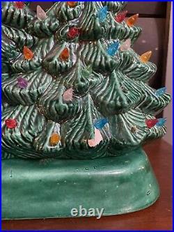 Vintage Light Rare Ceramic Christmas Tree Multi-Color Bulbs Trio Three