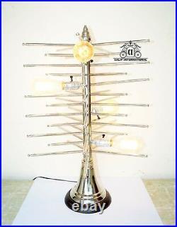 Vintage Mid Century Sputnik Brass Table Lamp Lighting 4 Bulb Lamp Christmas Tree